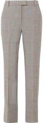 3.1 Phillip Lim Checked Wool-blend Straight-leg Pants - Gray
