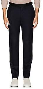 Officine Generale MEN'S CONTRAST-WAISTBAND WOOL TAILORED TROUSERS-NAVY SIZE 46 EU