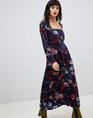 Vero Moda Floral Square Neck Maxi Dress