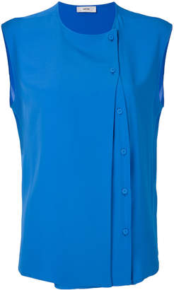 Mauro Grifoni side button sleeveless blouse