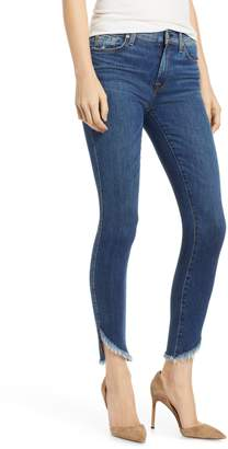 Seven7 The Ankle Skinny Jeans with Raw Angled Hem