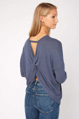 Olive + Oak Olive & Oak Open Twist Back Long Sleeve Tee