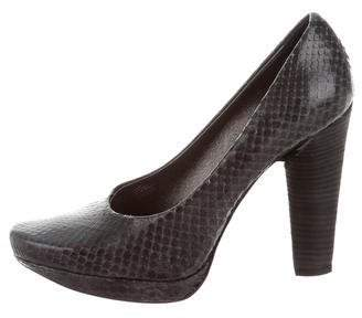 Calvin Klein Collection Snakeskin Pointed-Toe Pumps