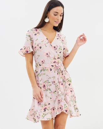 Dorothy Perkins Faux Wrapped Floral Dress