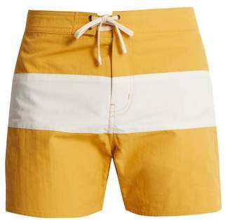 Saturdays NYC Grant Colour Block Swim Shorts - Mens - Yellow