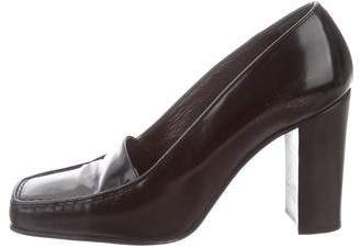 Walter Steiger Leather Square-Toe Pumps