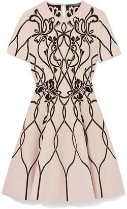 Alexander McQueen Jacquard-knit Mini Dress - Ivory