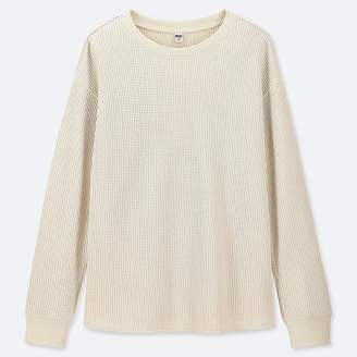 Uniqlo Women's Waffle Crew Neck Long-sleeve T-Shirt
