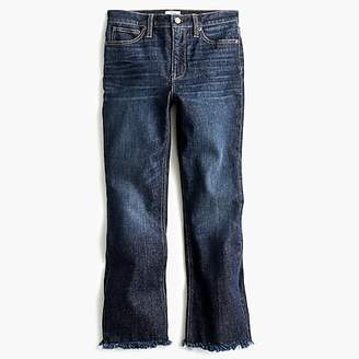 J.Crew Demi-boot crop jean with frayed hem