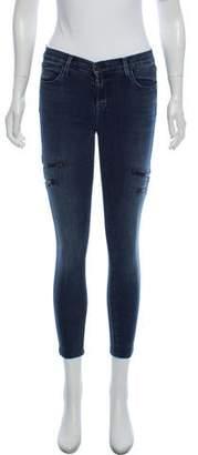 J Brand Mid-Rise Moto Jeans