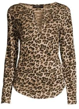 Generation Love Valentina Leopard Print Top