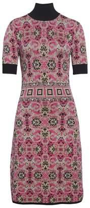 Versace Jacquard Knit Turtleneck Dress