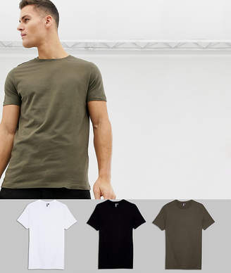 Asos DESIGN t-shirt with crew neck 3 pack SAVE
