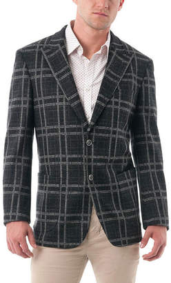 Blend of America VERNO Men's Bold Plaid Wool Peak Lapel Blazer