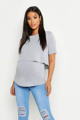 boohoo Maternity Double Layer Top