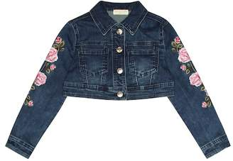 MonnaLisa Embroidered cropped denim jacket