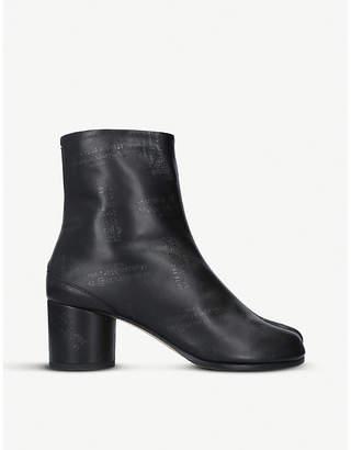 Maison Margiela Tabi logo-print leather ankle boots