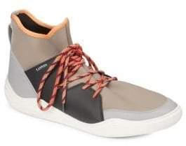 Lanvin Knit Neoprene High-Top Sneakers