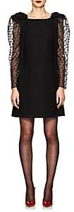 Valentino Women's Puff-Sleeve Wool-Silk Cocktail Dress - Black