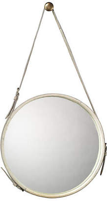 Jamie Young Strap Hanging Mirror - White Hide