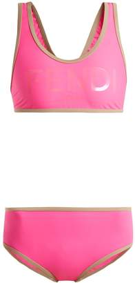 Fendi Logo-print racer-back performance bikini