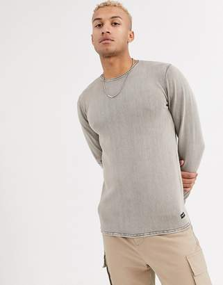 ONLY & SONS crew neck sweater in washed gray