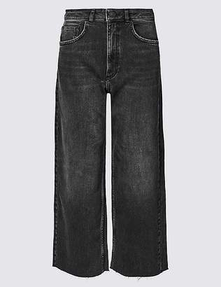 Marks and Spencer Mid Rise Wide Leg Cropped Jeans