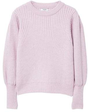 MANGO Puffed sleeves ribbed jumper