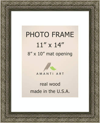 "Amanti Art Barcelona Champagne 11"" X 14"" Matted 8"" X 10"" Opening Wall Photo Frame"