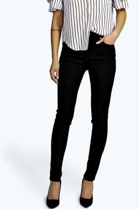 boohoo Lara High Waisted Skinny Tube Jeans