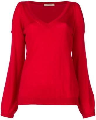 Twin-Set cold shoulder jumper