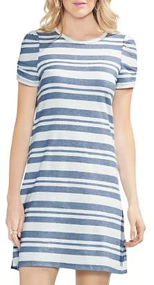 Vince Camuto Puff-Sleeve Striped T-Shirt Dress