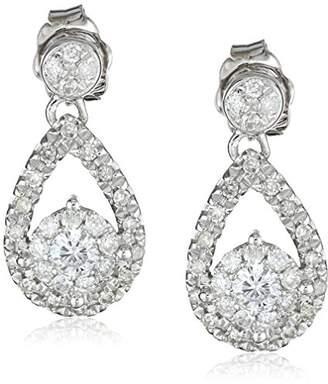 14k White Gold Diamond Teardrop Earrings (1/2 cttw