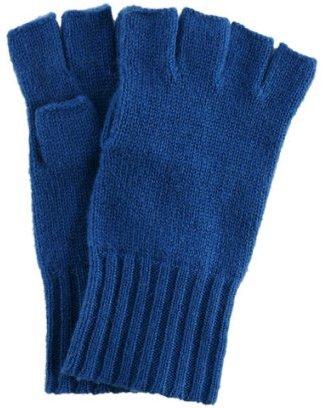 Kashmere royal blue cashmere fingerless gloves