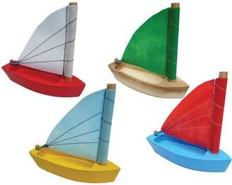QToys Wooden Sailing Boat (Set of 8)