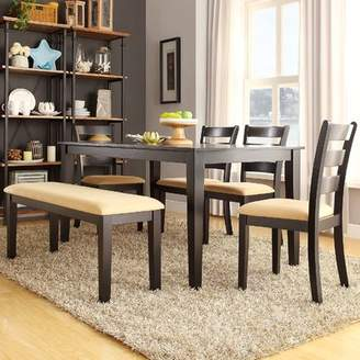 Andover Mills Oneill Modern 6 Piece Upholstered Dining Set
