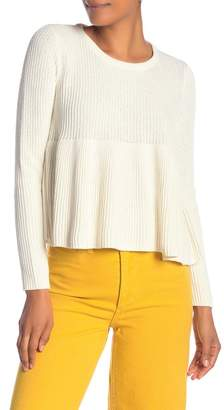 Madewell Ribbed Swing Pullover Sweater