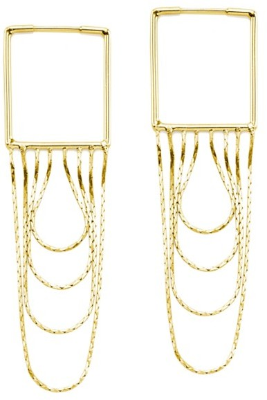 Maison Martin Margiela Square Chain Waterfall Earrings