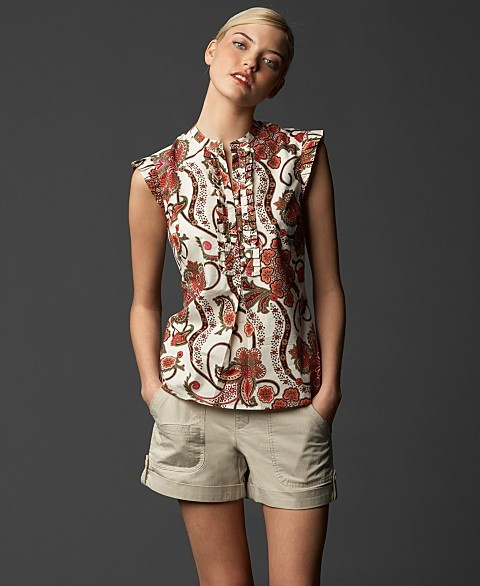 TOMMY HILFIGER Paisley Pleated Top