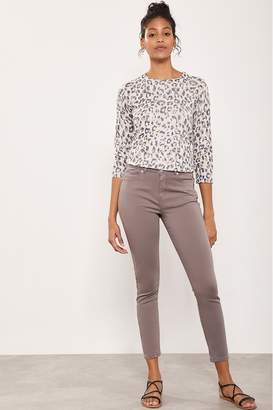 Mint Velvet Womens Orlando Mocha Crop Skinny Jean - Blue