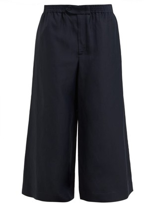 Raey Wide Leg Trousers - Womens - Dark Navy