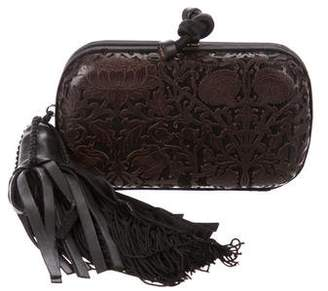 Bottega Veneta Cut-Out Leather Knot Clutch
