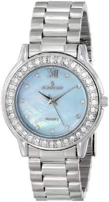 Peugeot Women's 7076S Silver-Tone Swarovski Crystal Bracelet Watch