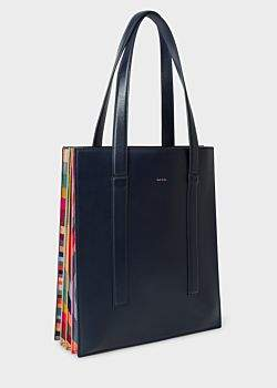 0b5890955f4a Paul Smith Women s Navy  Concertina Swirl  Leather Tote Bag