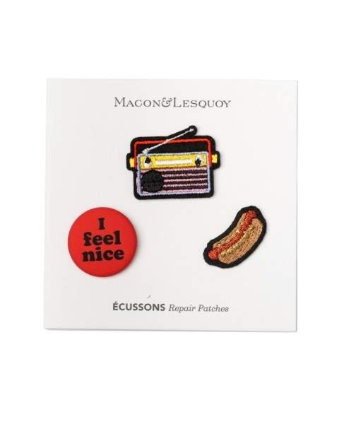 Styleserver DE Macon&Lesquoy Bügelpatch Set Hot Dog and Radio
