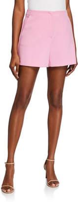 Trina Turk Valera High-Waist Luxe Drape Shorts