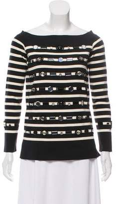 Marc Jacobs Embellished Striped Top w/ Tags