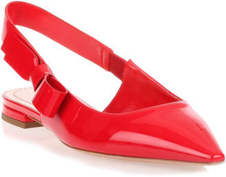 Christian Dior Red patent leather ballerina
