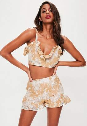 Missguided Lace Frill Shorts