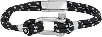 Vera Wang Simply Vera Simply Vera Vera Want Men's Black & White Nautical Cord Bracelet